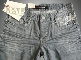 Neu Cipo&Baxx Herren Denim Jeans Hose Grau C727 L32
