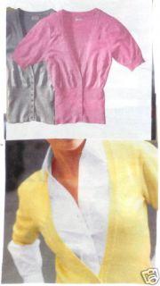 Damen 1/2Arm Strickjacke Shirt Gr.48 50 XL rosa 739 neu