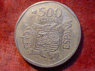 500 Pesetas Espana 1989 Juan Carlos I Y Sofia Spanien 735