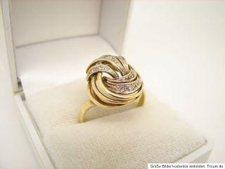 Diamant Gold Ring 585 Gold 14kt Goldschmuck Schmuck Gelbgold Damenring