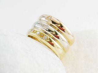 Absolut edler Tricolorring in 750/  Gold mit 6 Brillanten