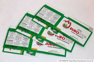Panini EM EC Euro 2008 – 3 x Display Box GRÜN GREEN – LEER EMPTY