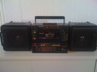 Sharp WF T 738 8 Band Equalizer BOOMBOX GHETTOBLASTER *10 Tage* *Sehr