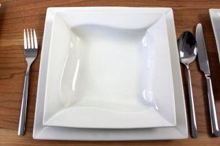 Porzellan 26 tlg Tafelservice Eckig Teller Set Geschirr 6 Personen Ess