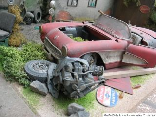 Chevy Corvette Chevrolet Umbau 118 Scheunenfund barn find junkyard