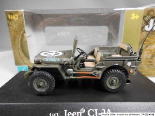 Willys MB Jeep CJ 2A US Army WWII Militärfahrzeug Modellauto 143 Neu