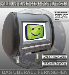 TFT LCD KOPFSTÜTZEN MIT DVD  SPIELE  USB  SD