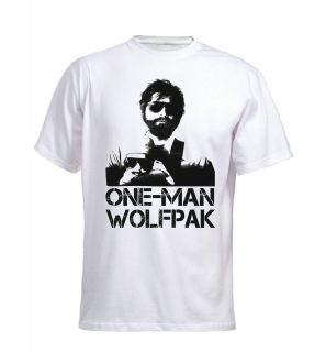 One Man Wolfpack T Shirt Hangover, Las Vegas, Carlos, Fun