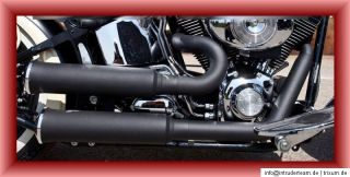 Auspuffanlage Competition Big Flat BLACK Harley Davidson Softail