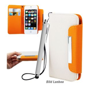 Apple iPhone 5 Leder Tasche Hülle Brieftasche Etui Handy Flip Cover