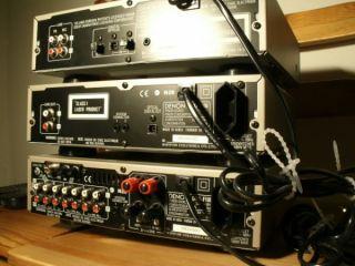 DENON Stereoanlage MINI Champagner Boxen DRA F100 DCD F100 Recorder