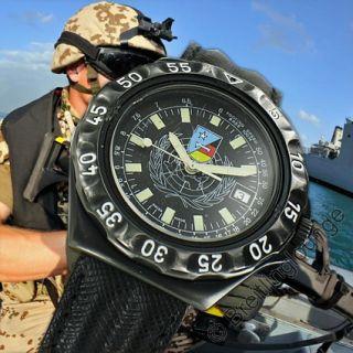 BREITLING Uhr DPW Black Steel Unica FF.AA Somalia Military watch