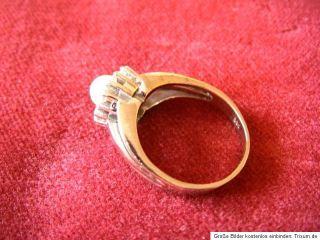 Verkauft wird ein absolutes selten schöner 585 Weißgoldring besetzt