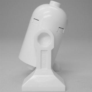 LEGO Star Wars Droide R2 D2 Prototyp, komplett in weiß, ohne