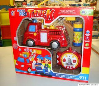 BUBBLE FIRE TRUCK   Feuerwehr Auto ferngesteuert,mit Seifenblasen