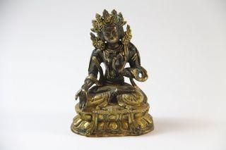 Bronze Figur Shiva auf Lotus Thron 19.Jhd Indien