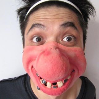 Halloween Crazy Funny Big Nose and ugly teeth Ball party Polyester