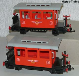 Playmobil 4001/ Dampflok 99 804 + 2 Personenwagen auch für LGB