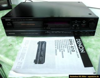 DENON DRS 610 Stereo Cassette Deck Tapedeck Rekorder TOP