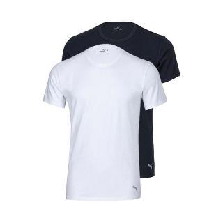 Puma Bodywear Crew Neck T Shirt Tee Shirt 49110601 weiß schwarz S , M