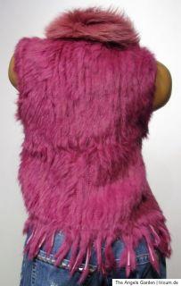 Luxus Fell Weste Jacke ★ Pelz echtes Kaninchen ★ div. Farben