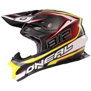 Ghost Bikes   ONEAL 812 GRAPHIC MX LIGHTWEIGHT FIBERGLASS 8 SERIES