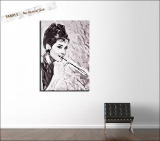 Audrey Hepburn 80x55cm Leinwand Canvas Bild dvd foto Poster Art Canvas