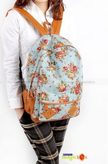 Women Fashion Vintage Cute Flower School Book Campus Bag Backpack New