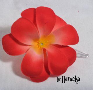 red flower Blumen Haarspange rockabilly pin up trend