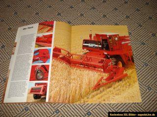 Orig.MF/Massey Ferguson Mähdrescher 750 Prospekt 1977