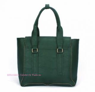 Celebrity Designer Inspired Faux Leather Vintage Satchel Tote IT Bag