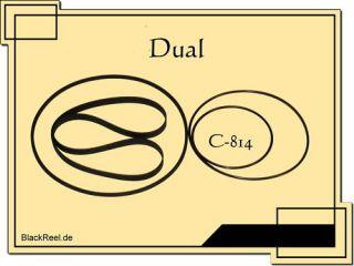 Dual C 814 Riemen rubber belts Cassette Tape Deck