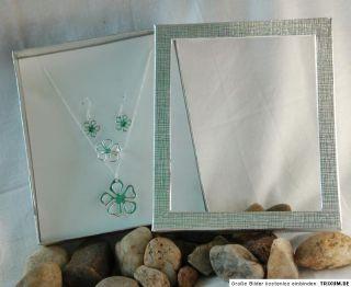 925 Silber Kette Ohrringe Ring Gr 18 Blume SET + Box kein Nickel 5