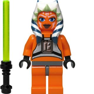 LEGO Star Wars Custom Figur Ahsoka Tano oranger Pilotenanzug