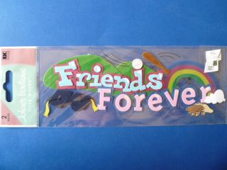 Jolees Waves *FRIENDS FOREVER* Stickers   Rainbow