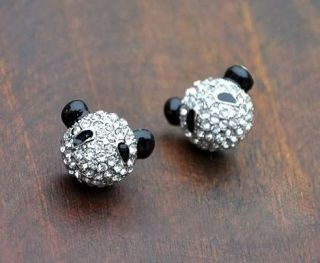 New Pretty Cute Panda Head Ear Shiny Fun Top Hot Fashion Jewelry Stud