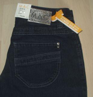 NEU MAC Jeans Gracia New Stretch Gr. 36 L 32 darkblue D824
