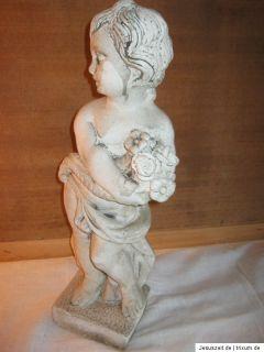 Steinfigur Skulptur Blumenmädchen schönes Mädchen 51cm