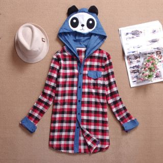 New Ladies Girl Korean Cute Japanese Panda Bear Hoodie Blouse Jumper