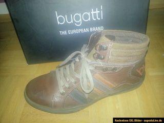 Bugatti Herren Boots, King Nappa , Halbshuhe, Braun/Orange Gr.42 NEU
