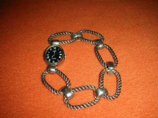 ROXY Anker 17 Rubis Incabloc Damen Armbanduhr 835 Silber