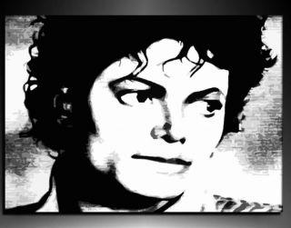Michael Jackson Kunstdruck auf Leinwand Bild Gemälde k.Poster