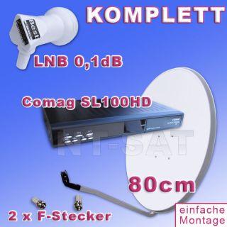Sat Anlage Comag SL100 HDTV,80cm, 0.1 dB LNB, Kabel