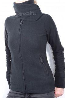 Bench Damen Fleece Jacke FUNNEL NECK, black