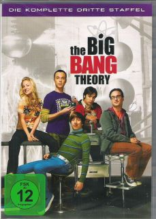 THE BIG BANG THEORY   Staffel Season 3   NEU   3 DVDs   OVP