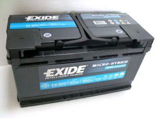 EXIDE AGM Technologie EK 920 Batterie 12V 92Ah 850 A