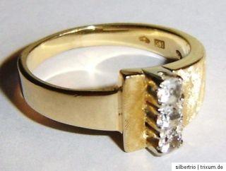 Ring 585 Gold feine Handarbeit der 60er Jahre 5,32 g Gr. 57 Aquamarin