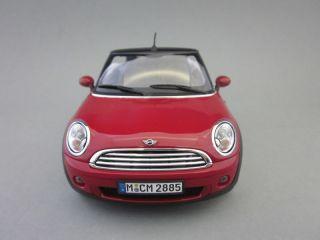 Original Mini Cooper Cabrio Cabriolet Chili Red rot 118 Kyosho