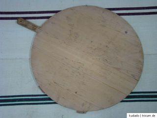 Nr.C8780 Altes Backbrett / Kuchenbrett   Holz   rund   ca. 61 cm