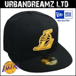 ANGELES LAKERS NBA SEASONAL BASIC BLACK/GOLD NEU 59FIFTY #849